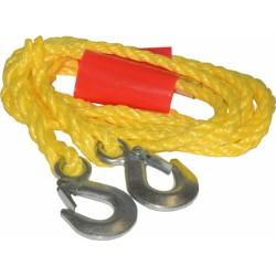 Linka holownicza sznurowa z hakami do pojazdów samochodowych o dopuszczalnej masie całkowitej do 1450 kg