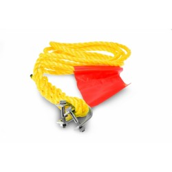 Linka holownicza sznurowa z szeklami do pojazdów samochodowych o dopuszczalnej masie całkowitej  do 1450 kg
